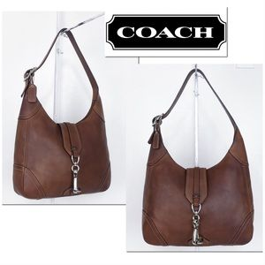 Coach Hamptons Tan Lightly Distressed Leather Hobo